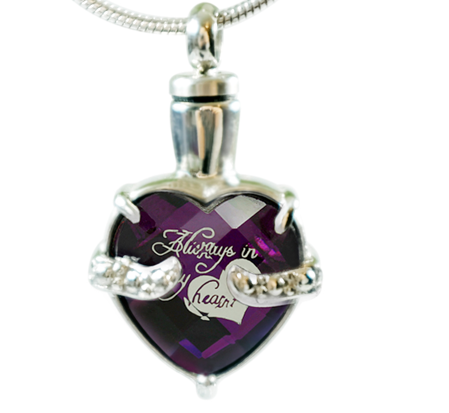 Always in my heart etched urn necklace memorial ash pendant always in my heart etched urn necklace memorial ash pendant cremation jewelry aloadofball Gallery